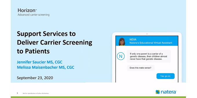 Support Services to Deliver Carrier Screening to Patients
