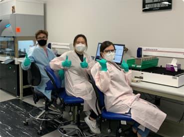 team in lab